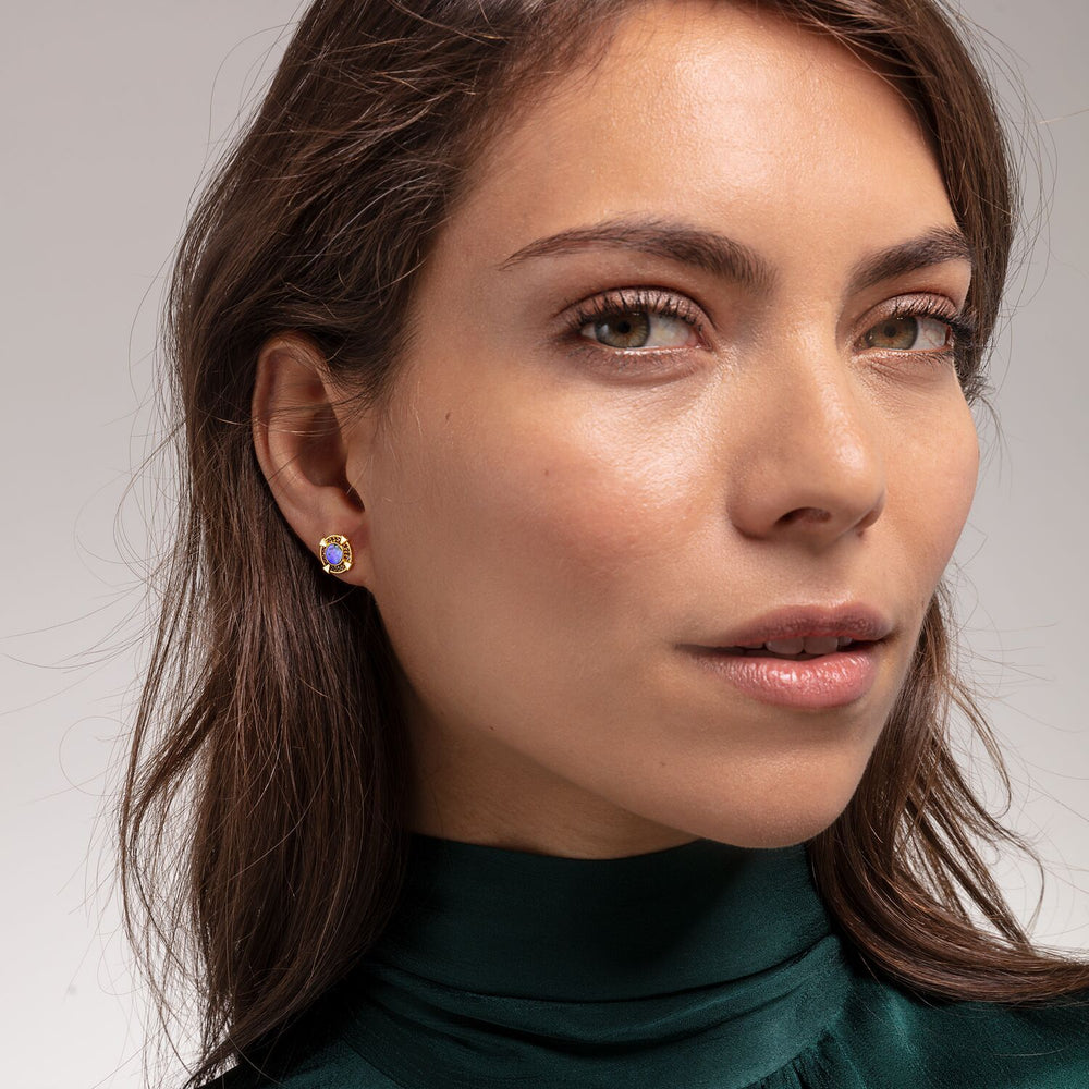 Ear Studs Abalone Mother-of-pearl Gold | Thomas Sabo