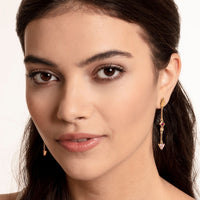 Gold Plated Simple Colourful Stones Earrings | Thomas Sabo