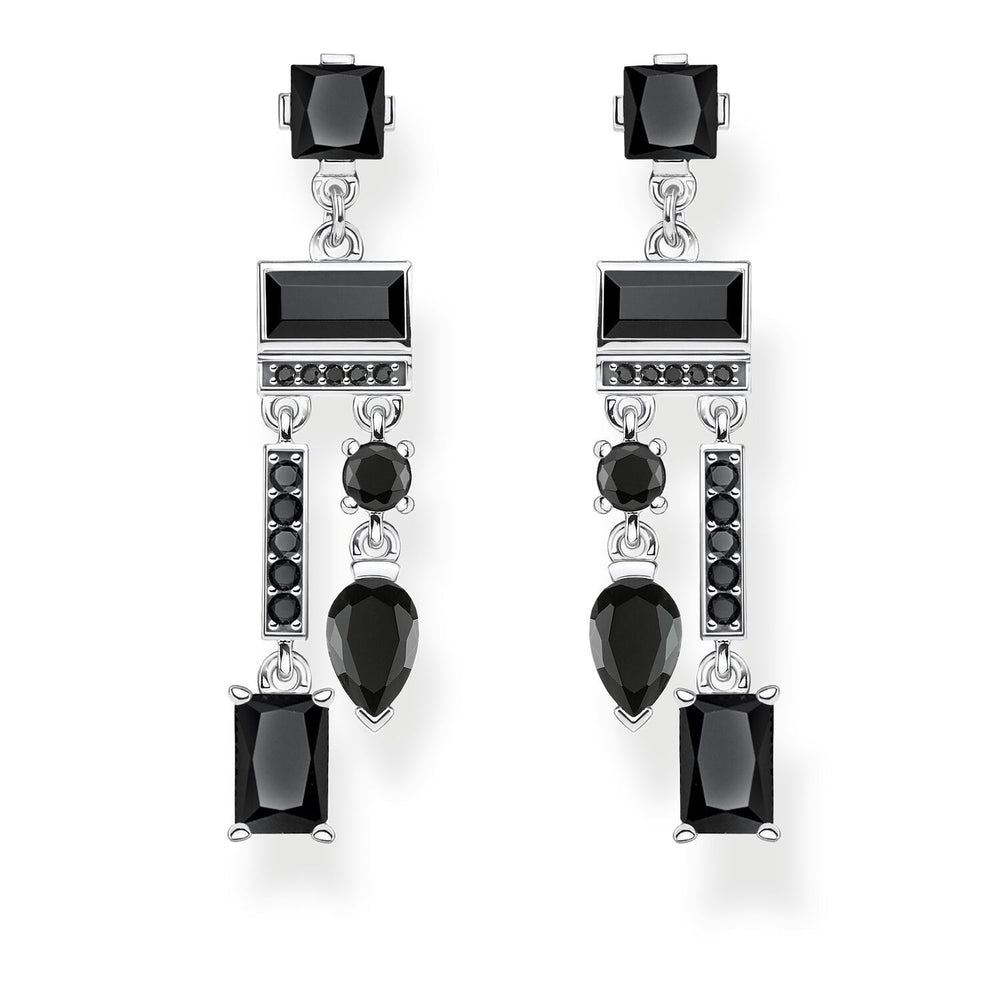 Earrings Black Mix Of Shapes | Thomas Sabo