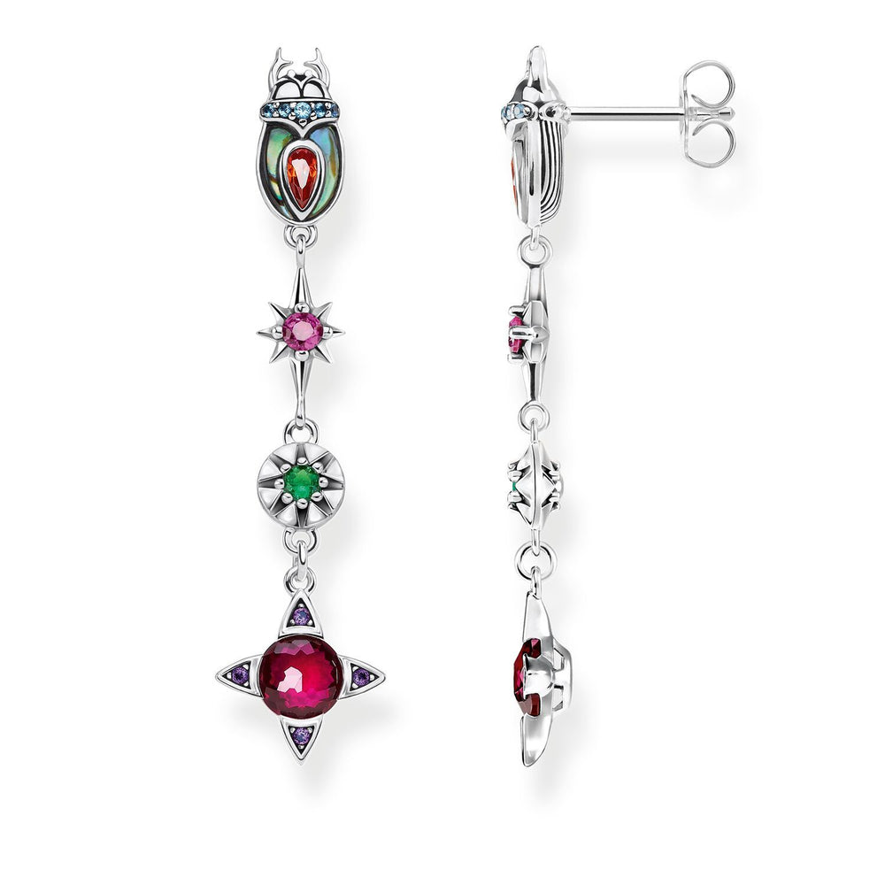 Sterling Silver Scarab Drop Earrings | Thomas Sabo