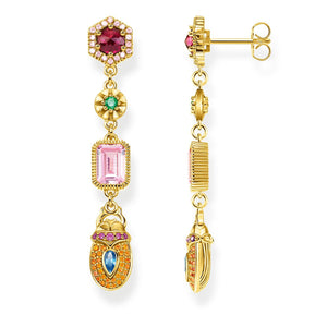 Gold Plated Scarab Drop Earrings | Thomas Sabo