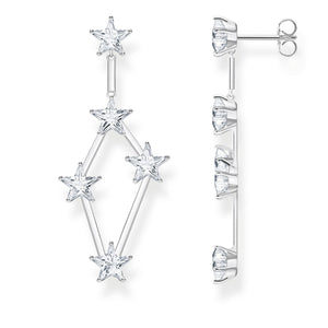 Sterling Silver Zirconia Stars Drop Earrings | Thomas Sabo