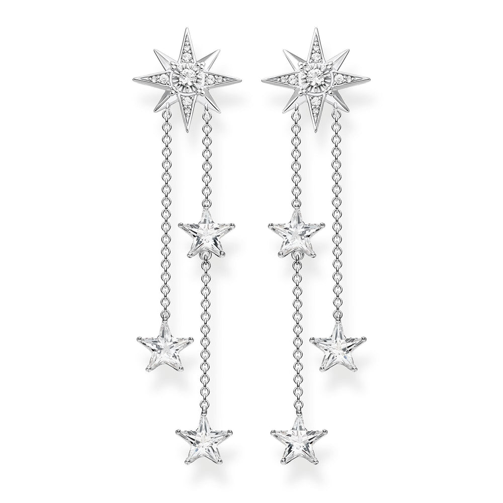 Sterling Silver Zirconia Stars Cascade Drop Earrings | Thomas Sabo