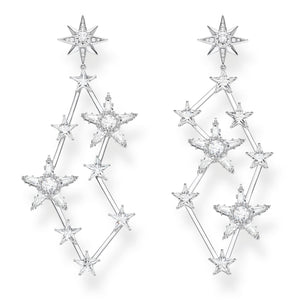 Sterling Silver Zirconia Stars Cluster Drop Earrings | Thomas Sabo