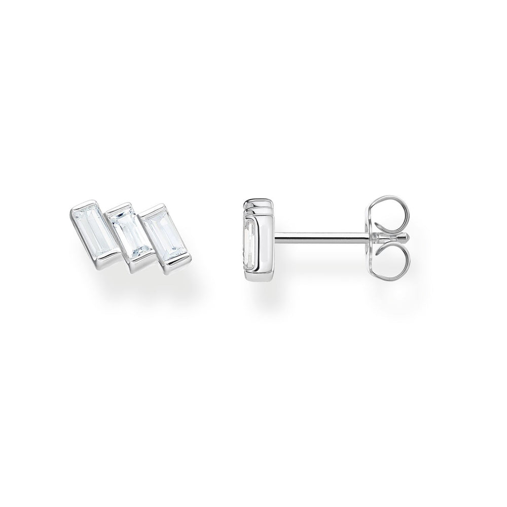 Ear Studs Angular Stones With Baguette Cut | Thomas Sabo