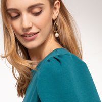 Gold Plated Heritage Twist Pearl Earrings | Thomas Sabo