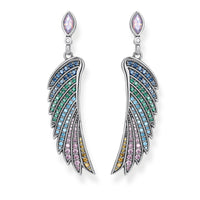 Earrings Bright Silver-coloured Hummingbird Wing