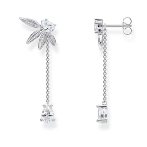 Earrings Leaves With Chain Large Silver | Thomas Sabo