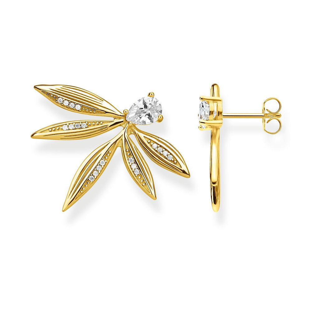 Ear Studs Leaves Gold | Thomas Sabo