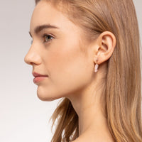 Rose Gold Pink Stone Ear Stud Earrings with Star | Thomas Sabo