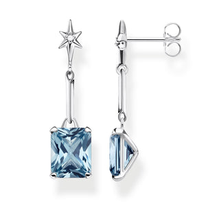 Earrings: Thomas Sabo Earrings Blue Stone
