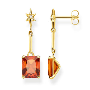Earrings: Earrings Orange Stone | Thomas Sabo Australia
