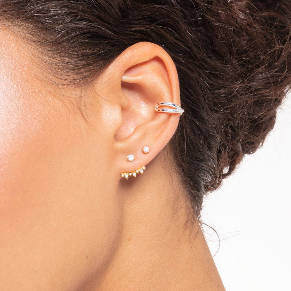 Ear Stud White Stone (Single) | Thomas Sabo Australia