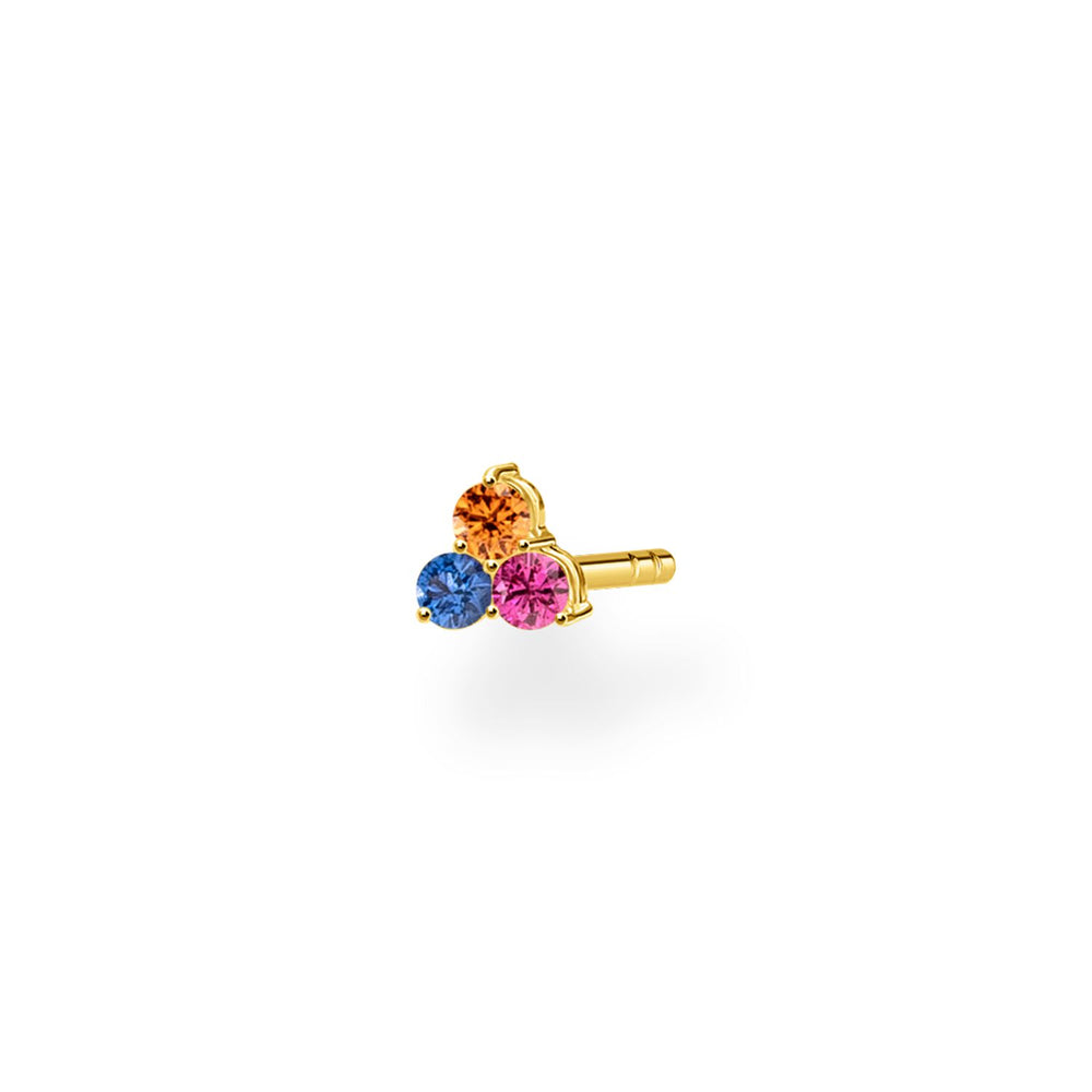 Ear Stud Colourful Stones (Single) | Thomas Sabo Australia