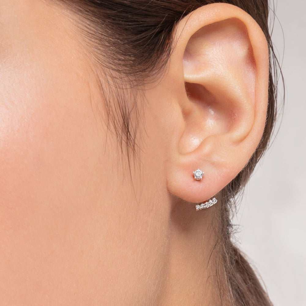 Ear Stud White Stones (Single) | Thomas Sabo Australia