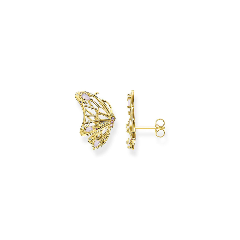 Ear Studs Butterfly Gold | Thomas Sabo Australia
