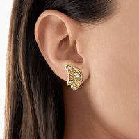 Ear Studs Butterfly Gold