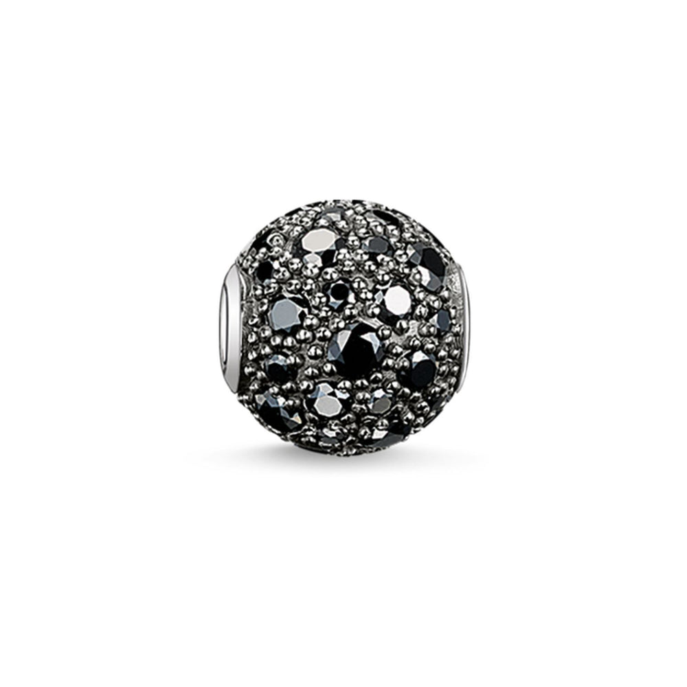 "THOMAS SABO Bead ""Black Crushed Pavé"""