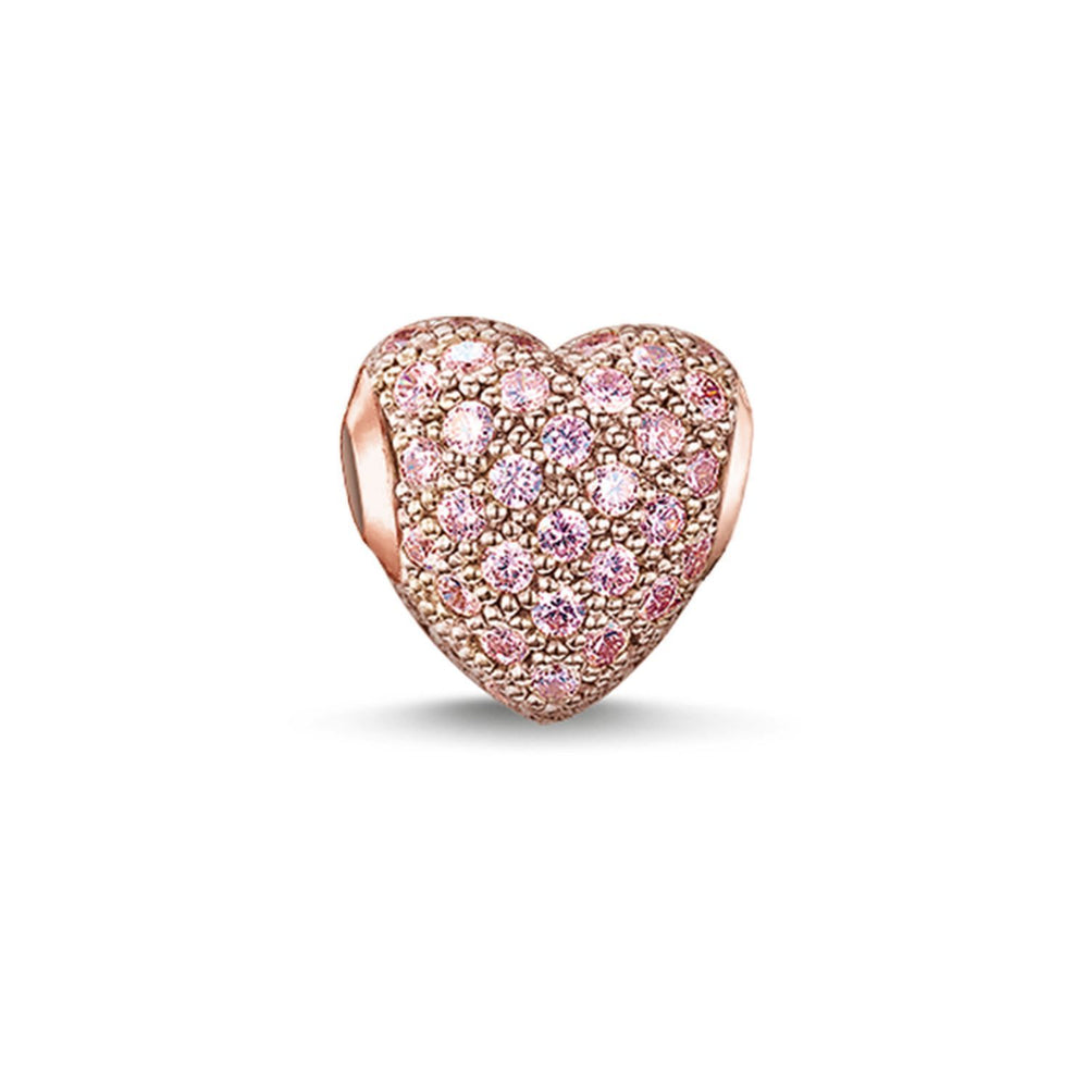 "THOMAS SABO Bead ""Hot Pink Pavé Heart"""