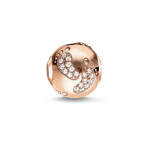 Rose Gold Plated Baby Footprint Karma Bead | Thomas Sabo