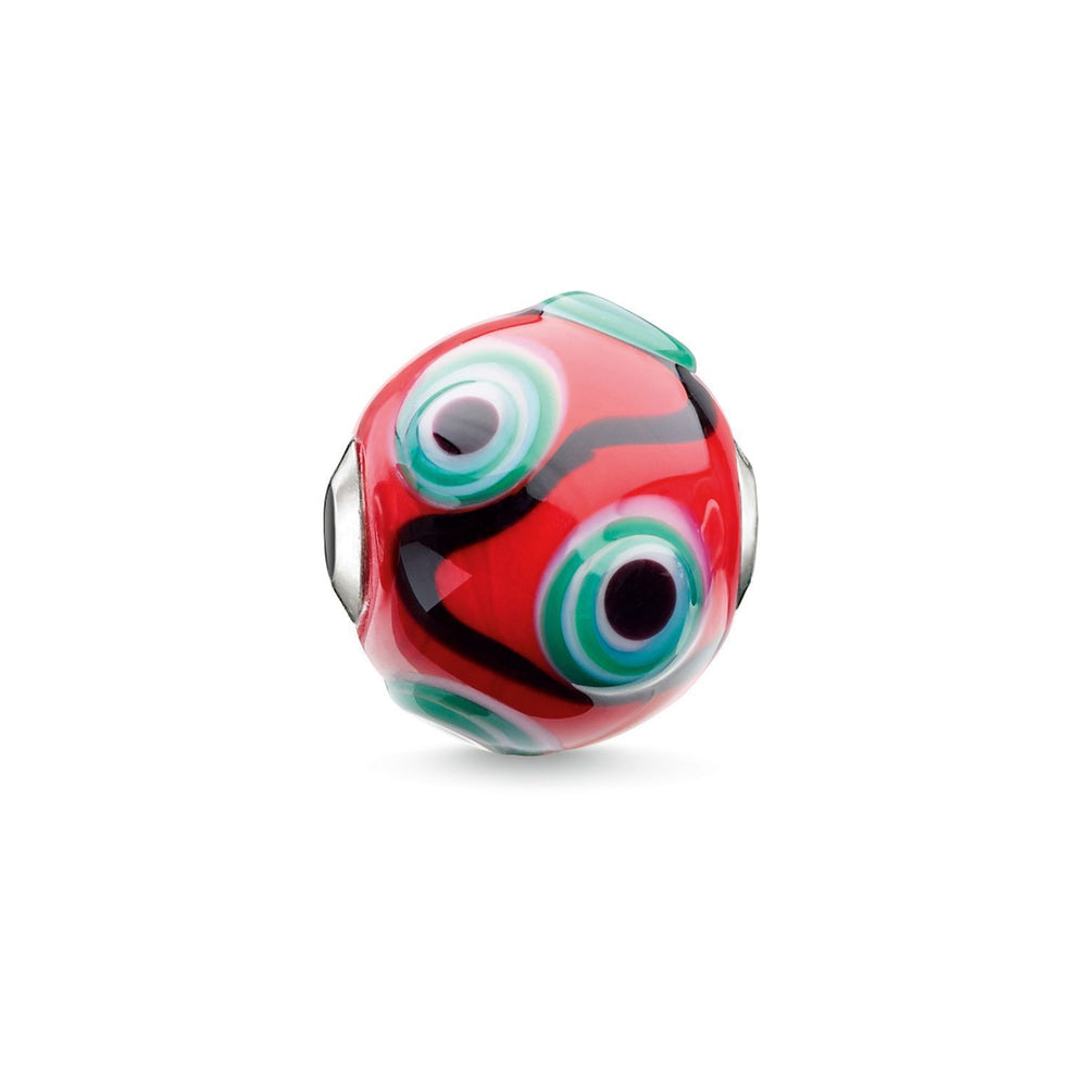 "THOMAS SABO Bead ""Glass Bead Red, Black, Green, White"""