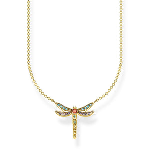 Gold Plated Small Dragonfly Necklace | Thomas Sabo