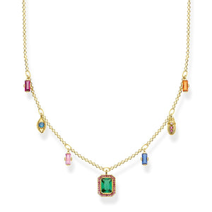 Necklace Colourful Lucky Symbols, Gold