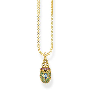 Gold Plated Scarab Necklace | Thomas Sabo