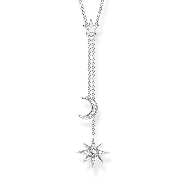 Necklace Star & Moon Silver