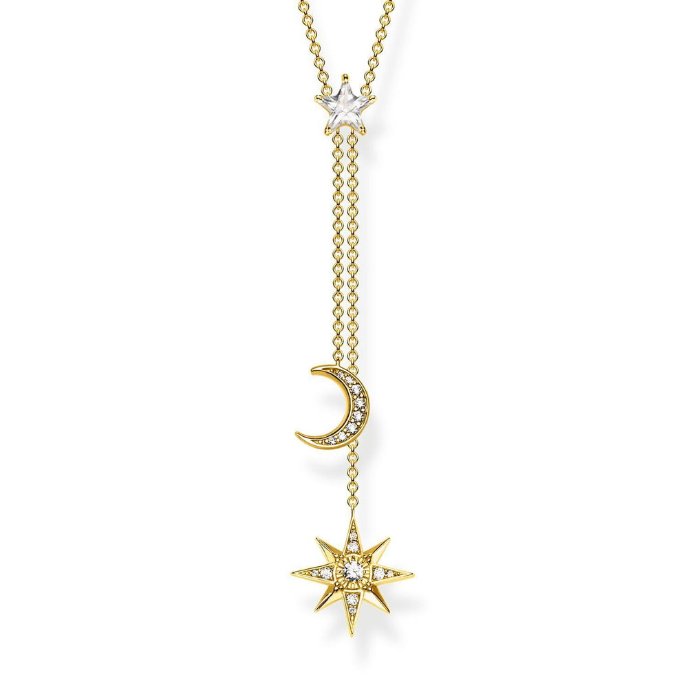 Necklace Star & Moon Gold | Thomas Sabo