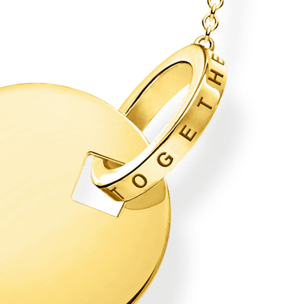 Necklace Together Coin With Gold-coloured Ring