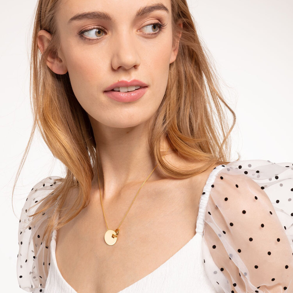 Necklace Together Coin With Gold-coloured Ring | Thomas Sabo