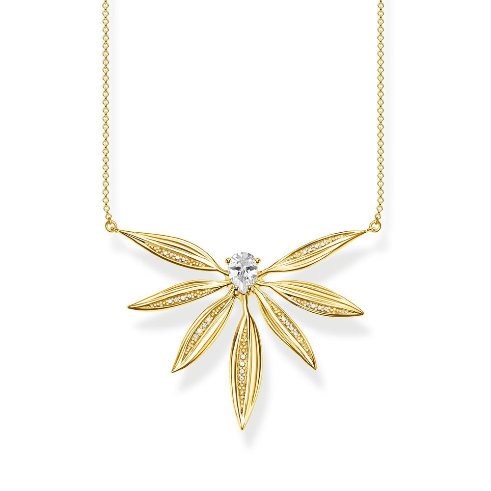 Necklace Leaves Large Gold | Thomas Sabo