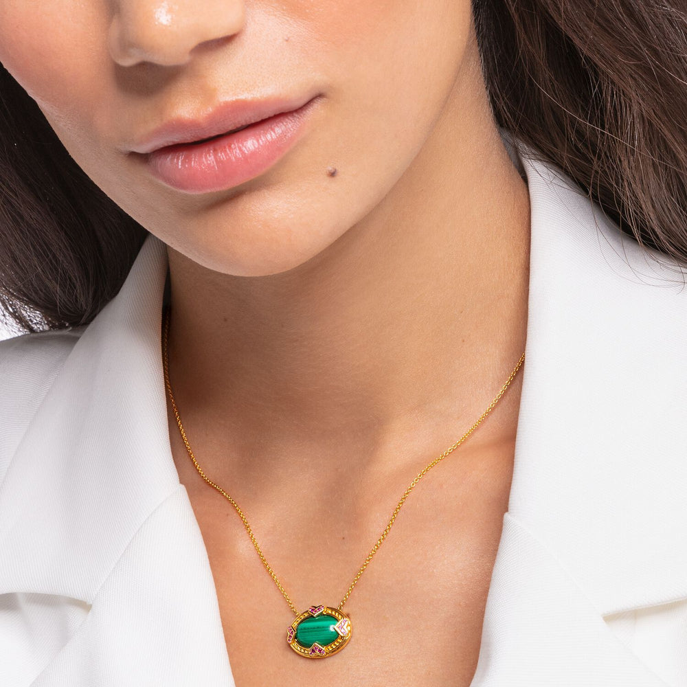 Necklace: Necklace Green Stone | Thomas Sabo Australia