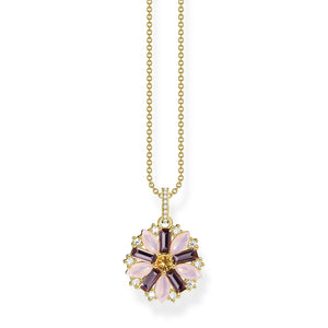 Necklace Flower Gold | Thomas Sabo Australia
