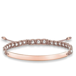 Rose Gold Knotted Macrame Bracelet | Thomas Sabo