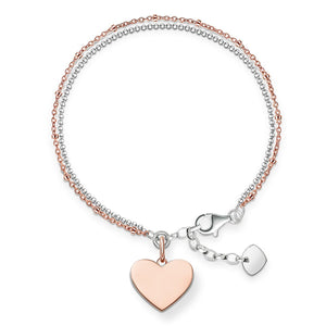 Rose Gold Romantic Statement Heart Bracelet | Thomas Sabo