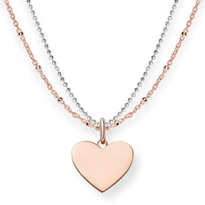 Rose Gold & Silver Heart Double Necklace | Thomas Sabo