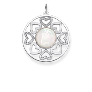 Sterling Silver Hearts Mother of Pearl Pendant | Thomas Sabo
