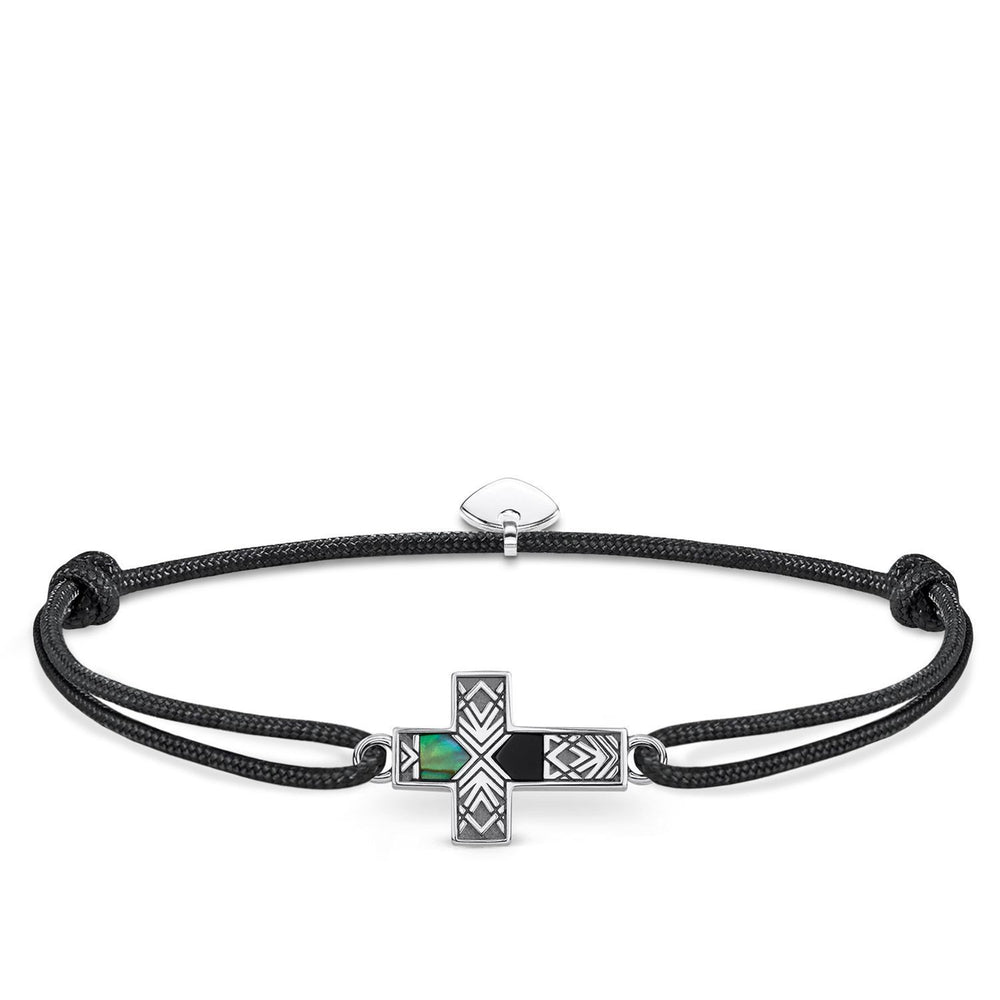 "THOMAS SABO Bracelet ""Little Secret Cross Abalone Mother-of-pearl"""