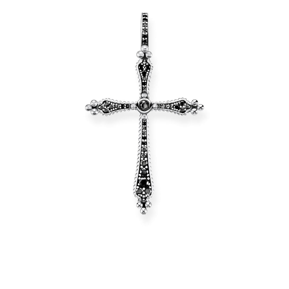 "THOMAS SABO Pendant ""Royalty Cross Black Stones"""