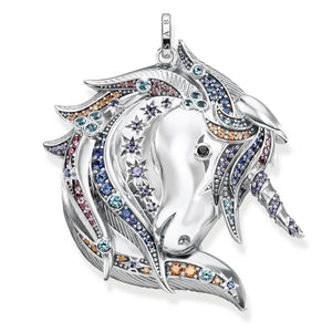 THOMAS SABO Pendant Royalty Unicorn Silver