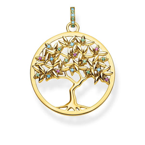 Gold Plated Colourful Tree of Love Pendant | Thomas Sabo