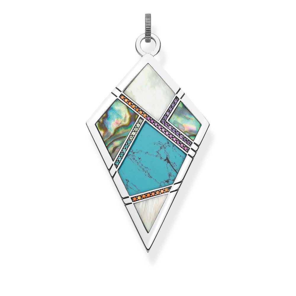 "THOMAS SABO Pendant ""Turquoise, Mother-of-pearl"""