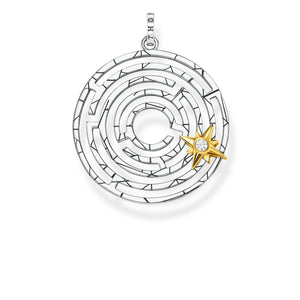 Pendant Labyrinth With Golden Star | Thomas Sabo
