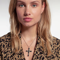 Pendant Cross Black Stones | Thomas Sabo