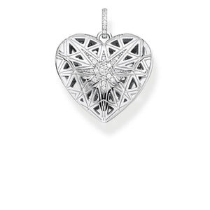Pendant Heart Medallion Star Silver