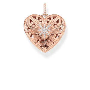 Pendant Heart Medallion Star Pink | Thomas Sabo