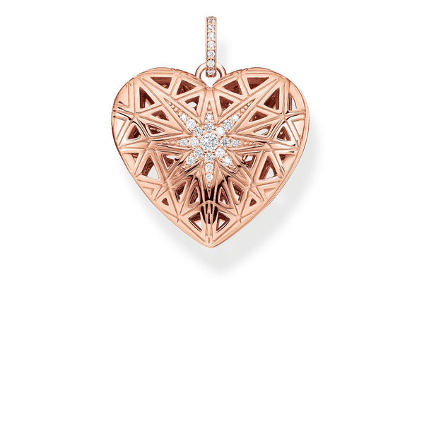 Pendant Heart Medallion Star Pink