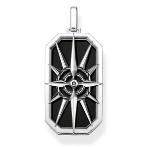 Pendant Compass Star Black | Thomas Sabo